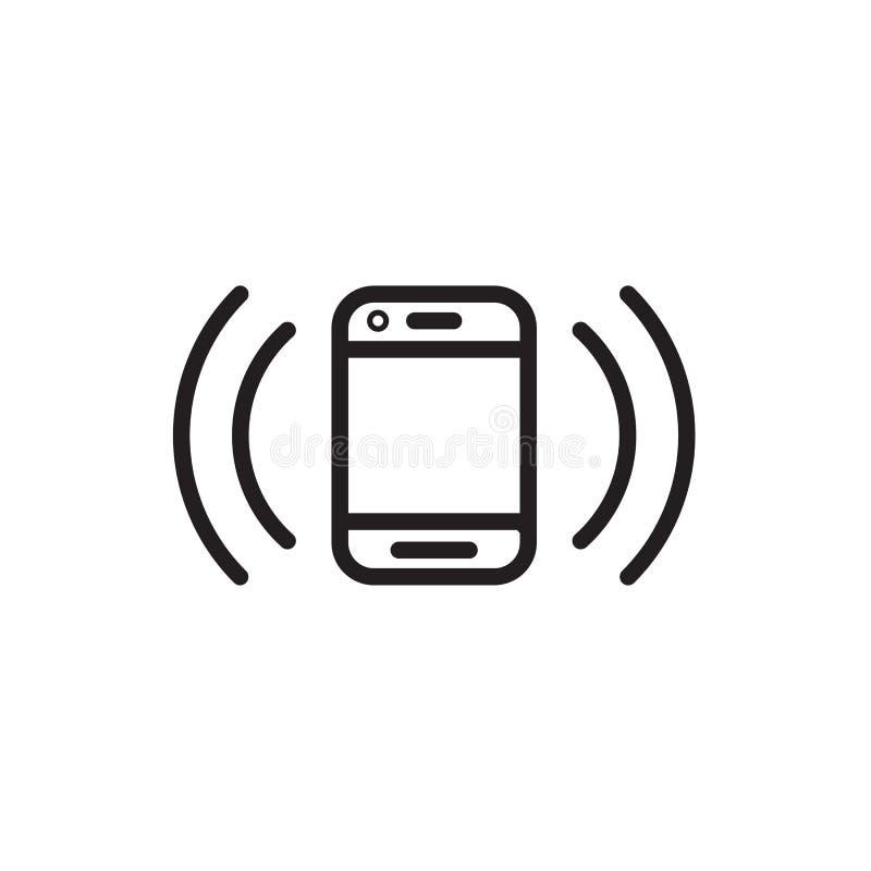 Умное vectoe EPS 10 значка телефона иллюстрация вектора