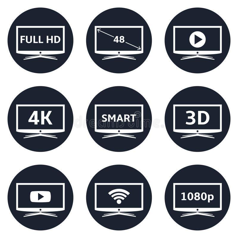 Умные значки ТВ бесплатная иллюстрация