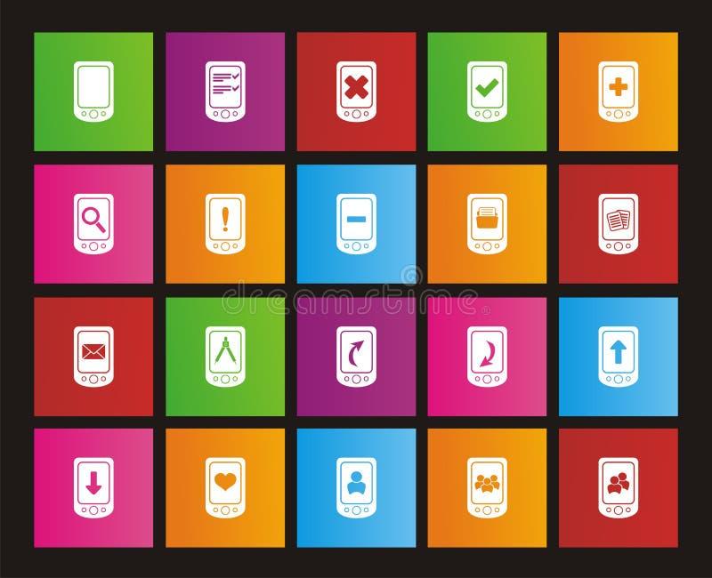 Умные значки телефона - значки стиля метро бесплатная иллюстрация