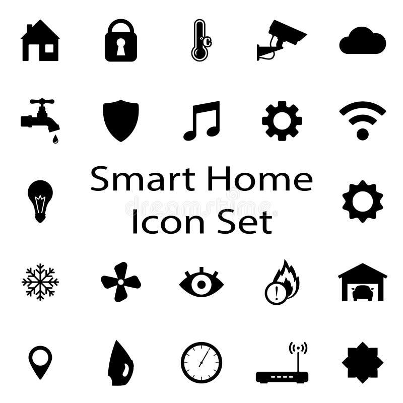 Умные домашние установленные значки бесплатная иллюстрация
