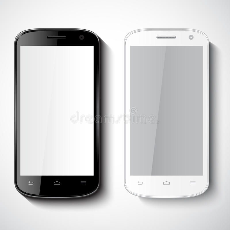 Умные телефоны на белой предпосылке бесплатная иллюстрация