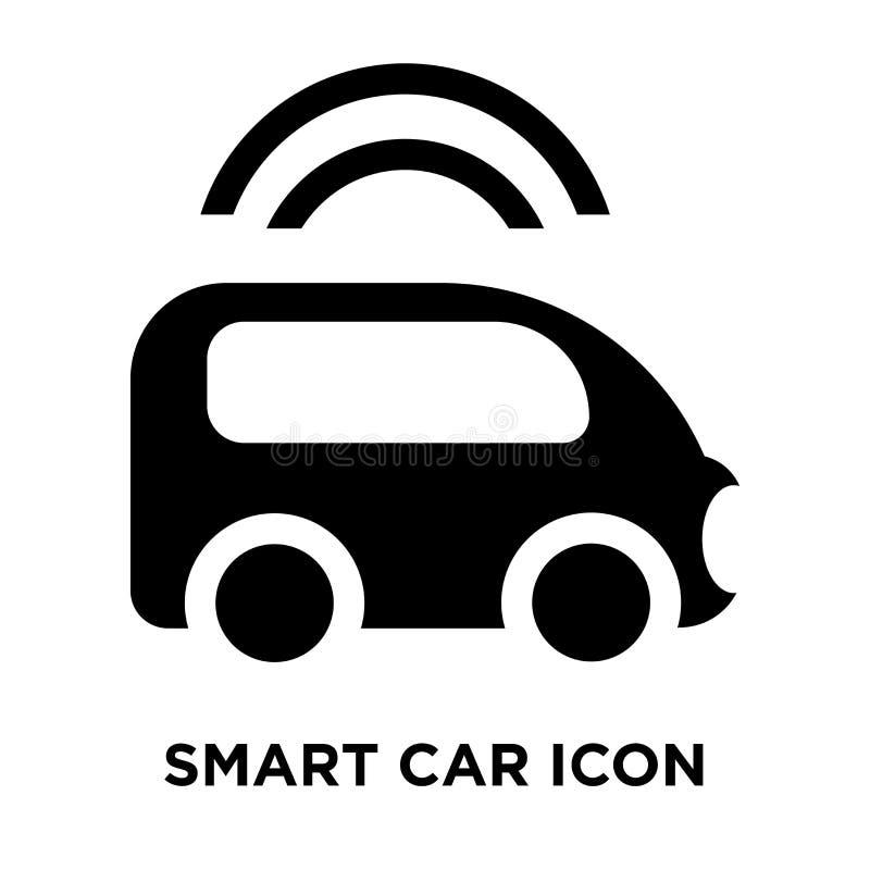 Умный вектор значка автомобиля изолированный на белой предпосылке, концепции логотипа бесплатная иллюстрация