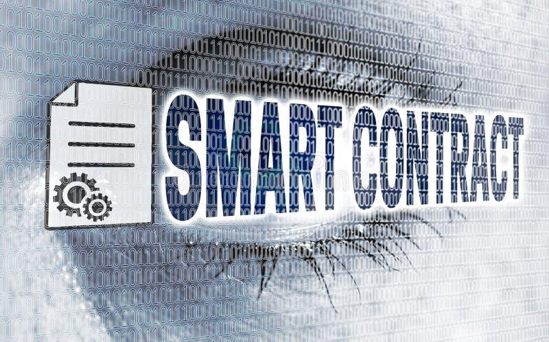 Умный глаз контракта с матрицей смотрит на концепции телезрителя иллюстрация вектора