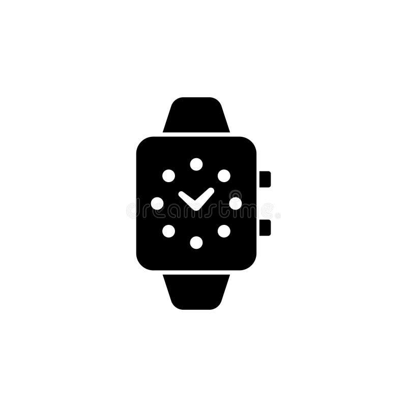 Умный дозор, значок вектора цифровых часов плоский иллюстрация вектора