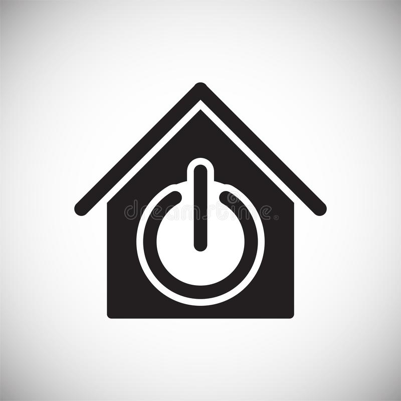 Умный домашний родственный значок на предпосылке для графика и веб-дизайна Простой знак вектора Символ концепции интернета для бесплатная иллюстрация