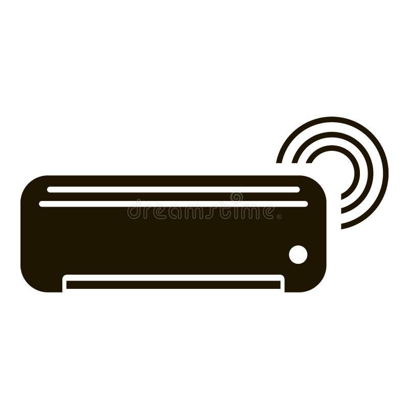 Умный значок кондиционера, простой стиль иллюстрация вектора