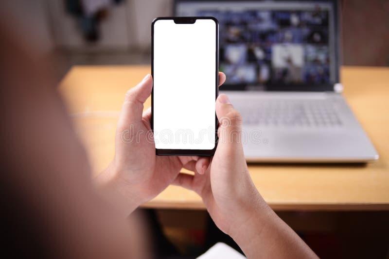 Умный модель-макет телефона стоковые фото