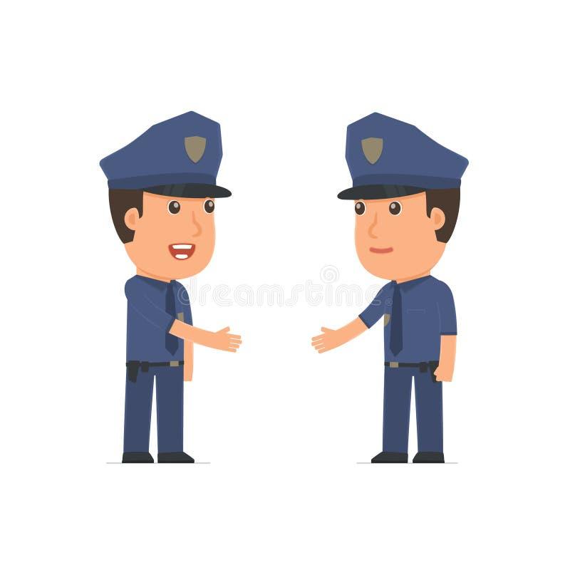 Умный офицер характера заключает контракт дела с h иллюстрация штока
