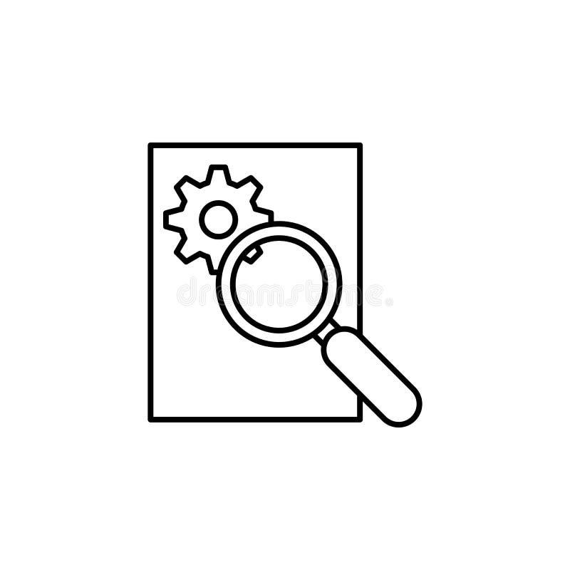 Умный поиск, значок маркетинга интернета Элемент значка искусственного интеллекта для передвижных apps концепции и сети Тонкая ли иллюстрация штока