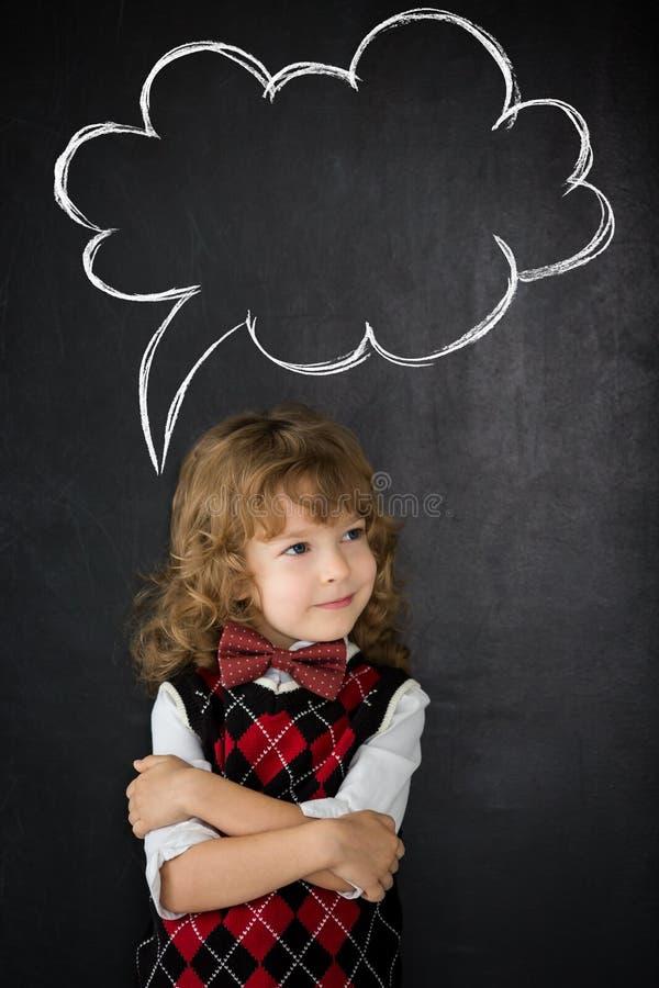 Умный ребенк в классе стоковая фотография rf