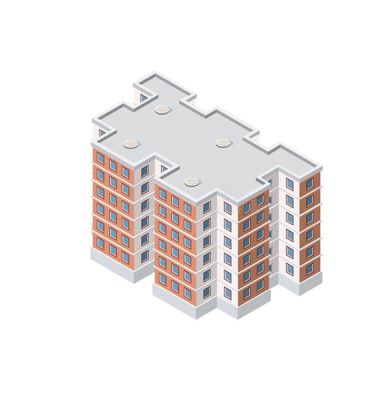 Умный строя дом иллюстрация вектора