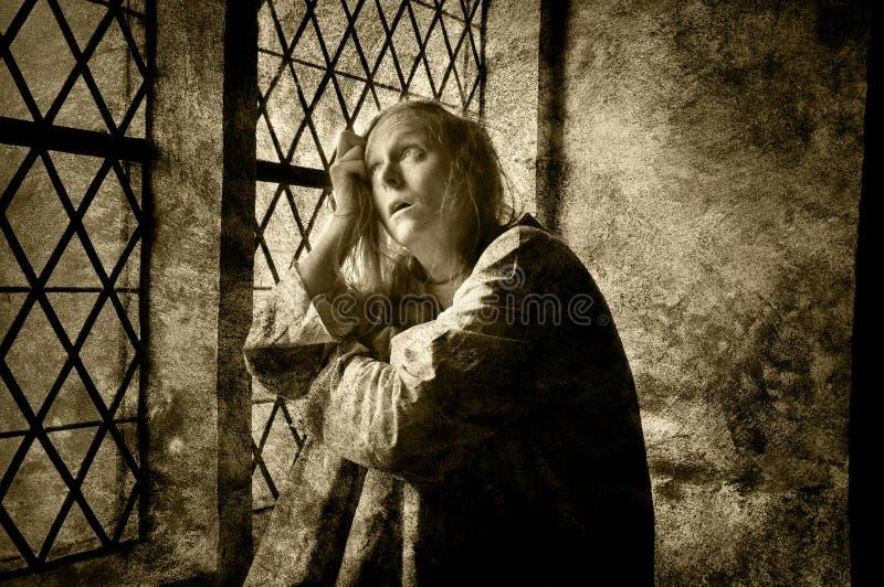 Умственно - больная женщина стоковые изображения rf