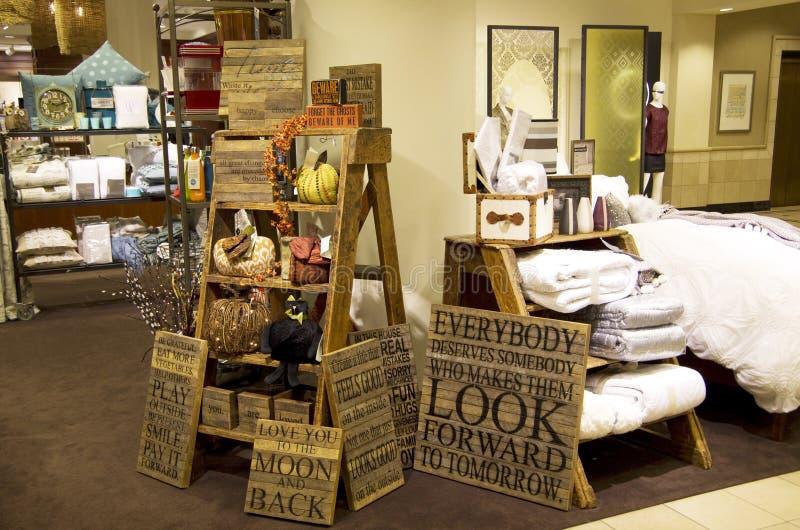 Универмаг декора мебели домашний стоковые фото