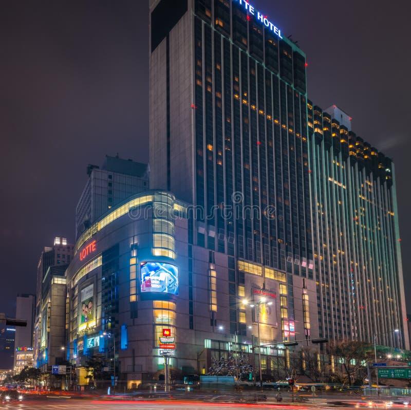 Универмаг Lotte стоковая фотография