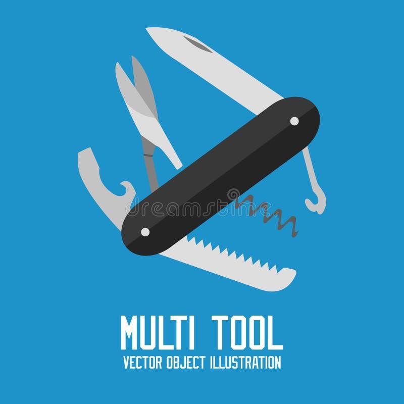 Универсальным вектор изолированный мульти-инструментом иллюстрация штока