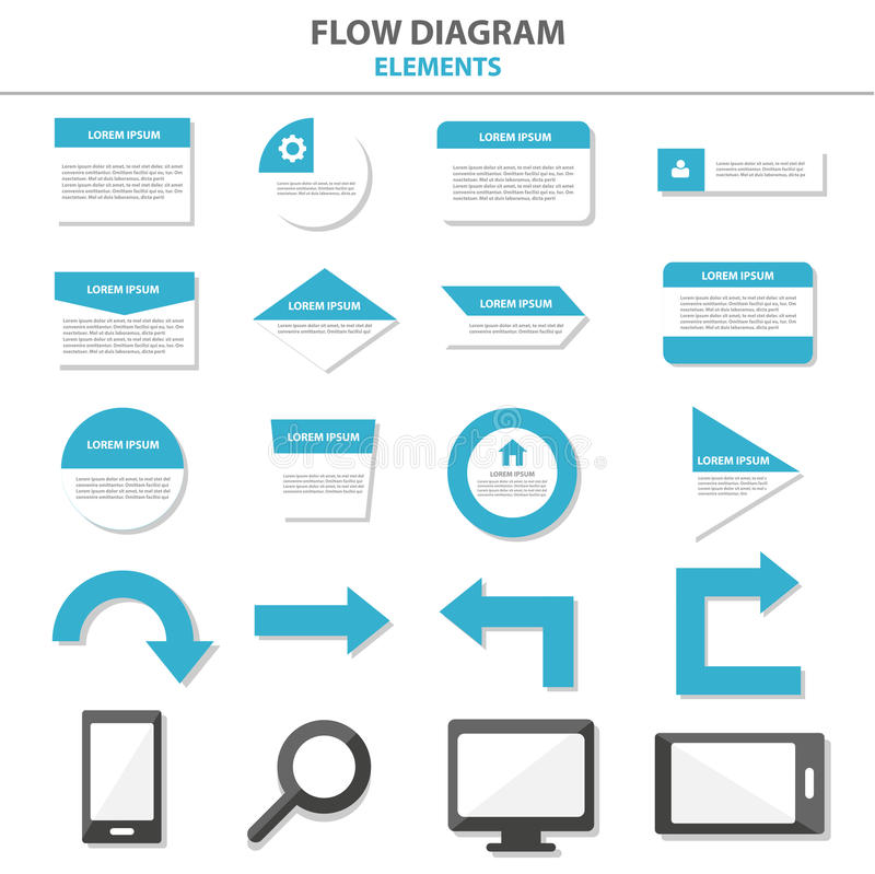 Универсальные элементы Infographic и дизайн шаблона представления значка плоский установили для рекламировать листовку рогульки б бесплатная иллюстрация