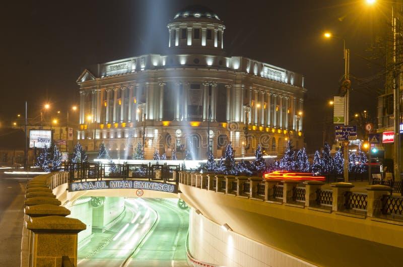 Университетская библиотека Iasi Mihai Eminescu центральная стоковое фото