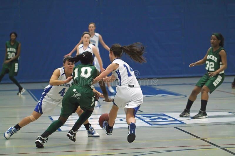 университетская спортивная команда средней школы баскетбола стоковая фотография
