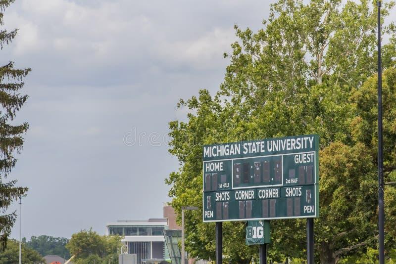 Университетский кампус штата Мичиган стоковые фото