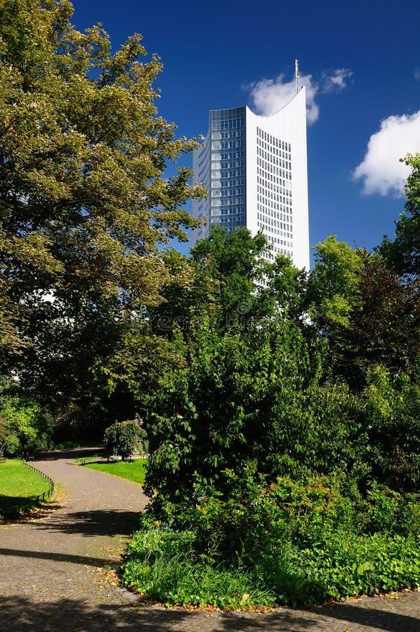 университет башни leipzig стоковое изображение rf