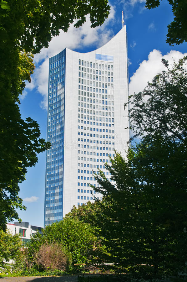университет башни leipzig стоковые изображения