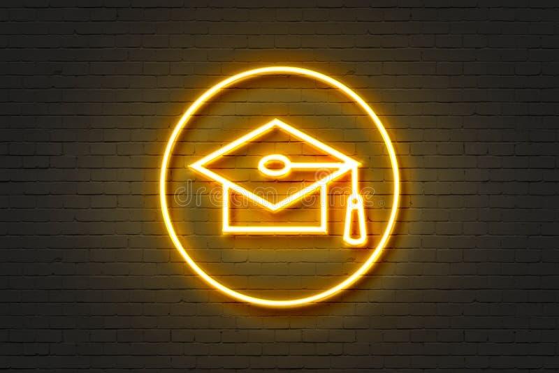 Университет значка неонового света стоковые фото
