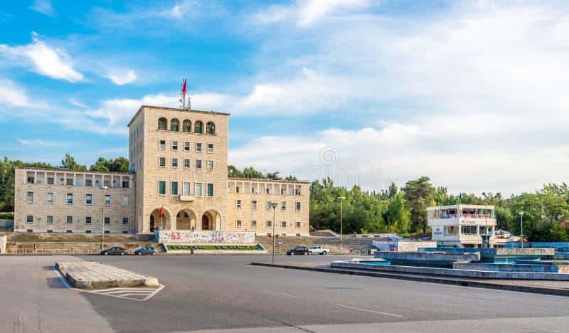 Университет здания Тираны стоковое фото rf