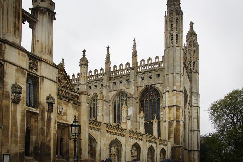университет королей коллежа cambridge стоковые изображения