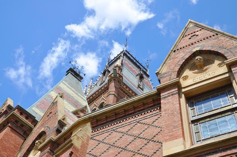 университет мемориала harvard ma залы cambridge стоковое изображение rf