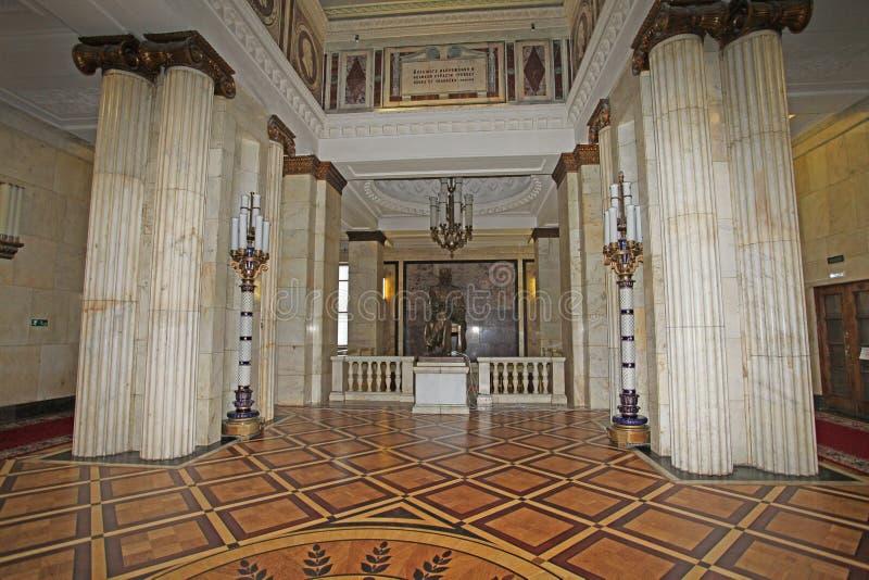 Университет Москвы внутрь, Москва стоковое изображение rf