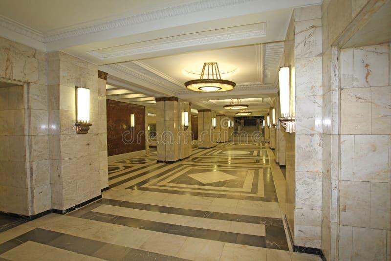 Университет Москвы внутрь, Москва стоковое фото