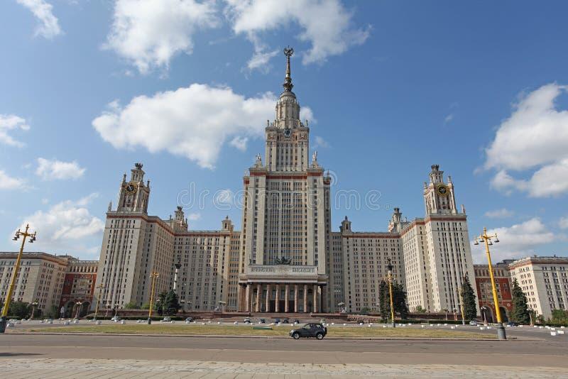 Университет Москвы, Москва стоковые изображения rf