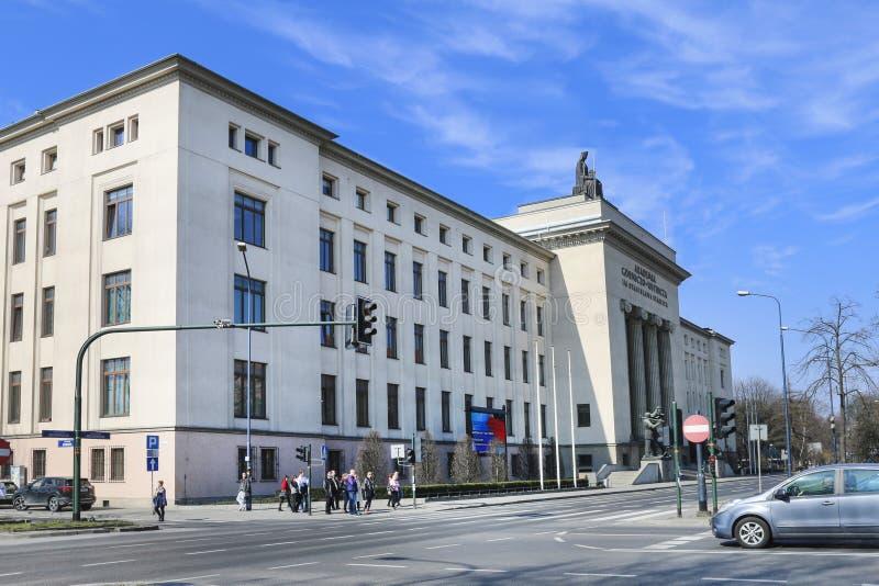 Университет науки и техники - главное здание AGH, Краков стоковая фотография