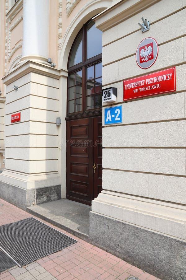 Университет наук о жизни Wroclaw стоковые фото