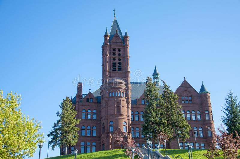 Университет Сиракуза, Сиракуз, Нью-Йорк, США стоковая фотография