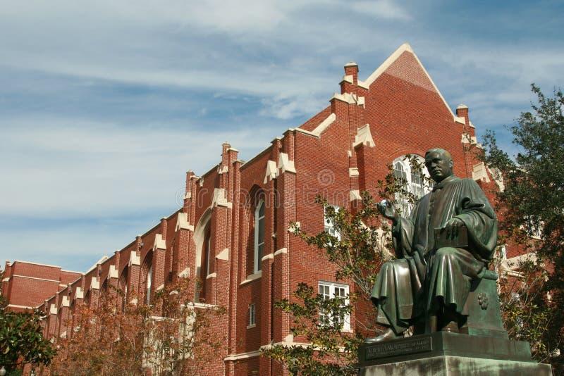 университет статуи murphree albert florida стоковое изображение rf