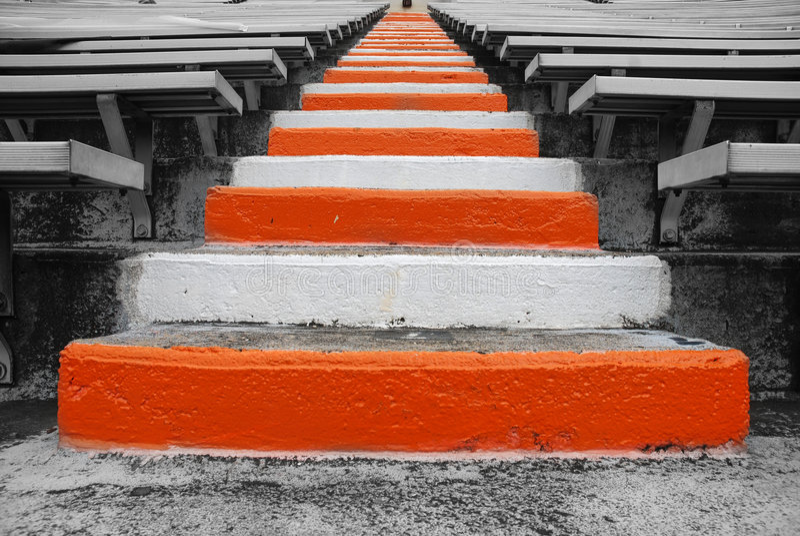 университет Теннесси лестниц футбола поля стоковые фото