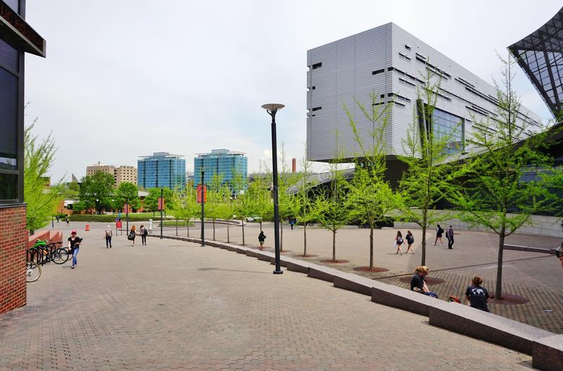 Университет Цинциннати, Огайо стоковое изображение