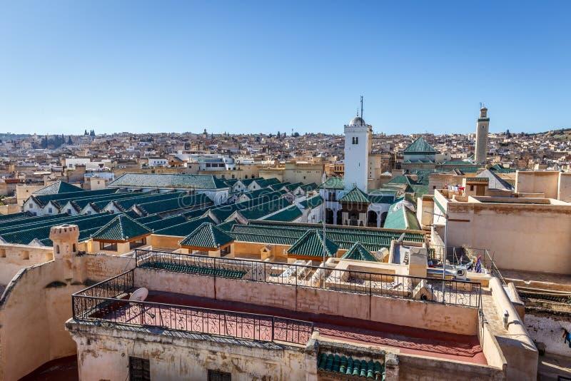 Университет al-Karaouine в Fez, Марокко стоковое изображение rf