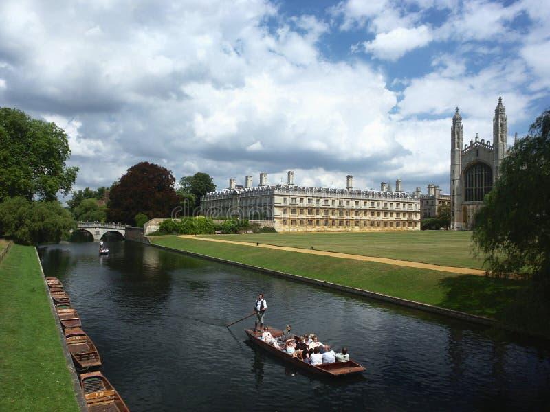 университет cambridge Англии стоковое фото