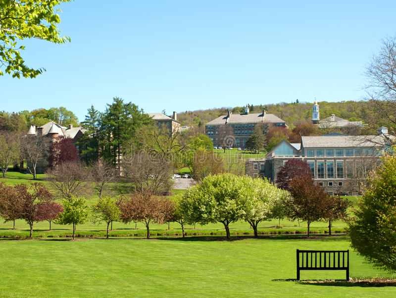 университет colgate стоковое изображение rf