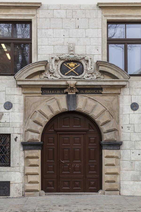 Университет Cracow - коллегия Iuridicum стоковые фотографии rf