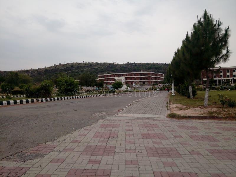 Университет Hitec, shogran, balakot, mansahra, naran стоковое фото