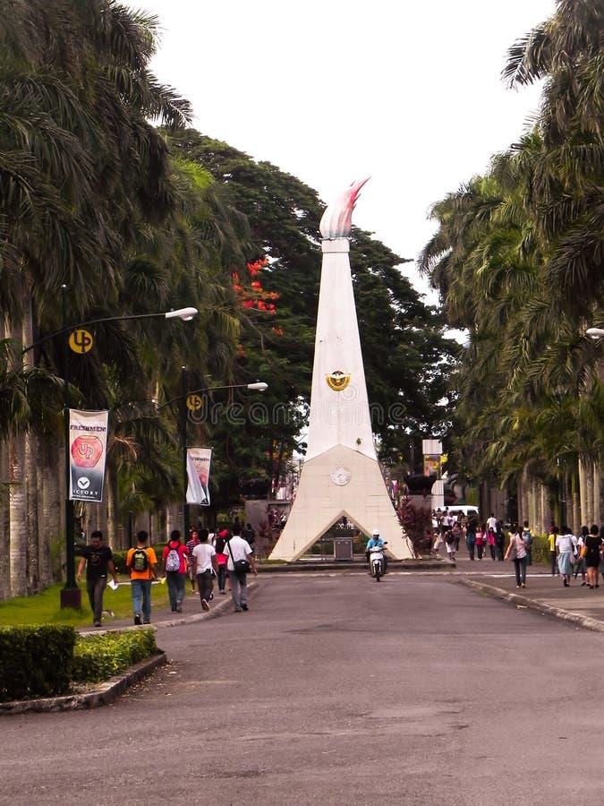 университет os philippines laguna los ba стоковое изображение rf