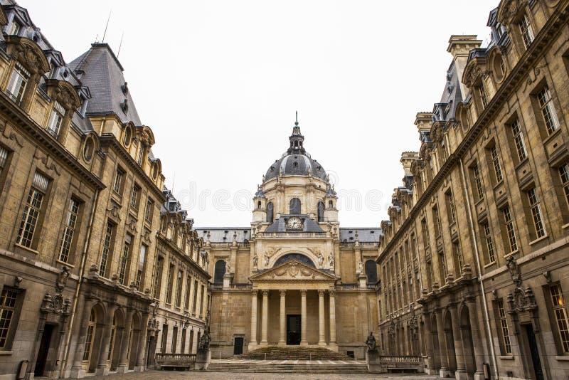 Университет Sorbonne в Париже стоковые изображения rf