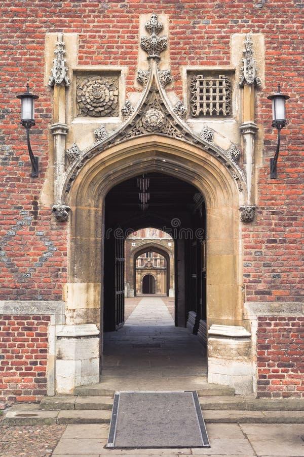 университет st Англии johns коллежа cambridge стоковое изображение