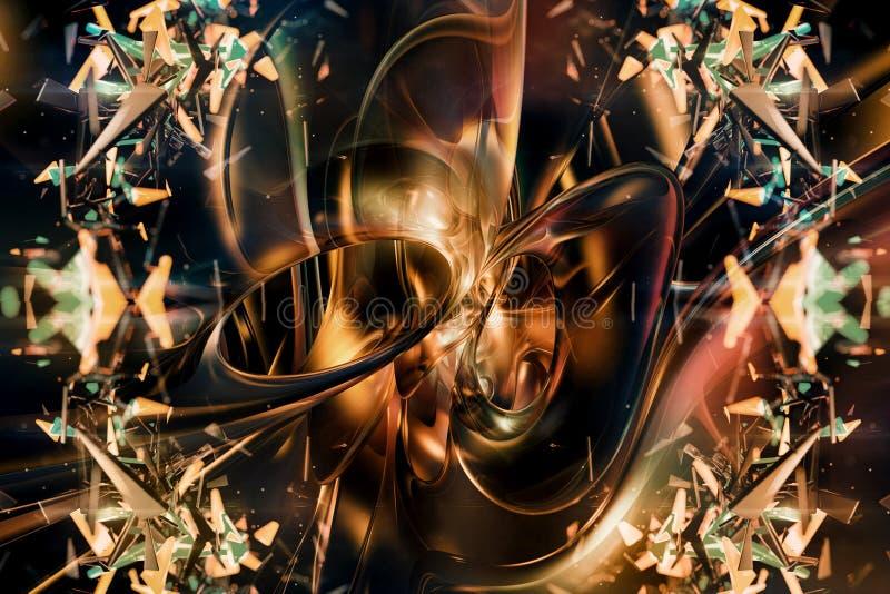 Уникальное абстрактное художественное художественное произведение фрактали как предпосылка иллюстрация вектора