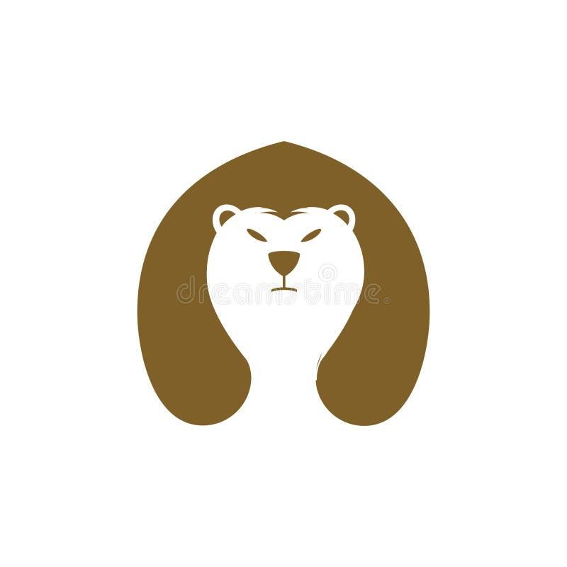 Уникальное и простое вдохновение логотипа для медведя для Вашего бренда стоковое изображение
