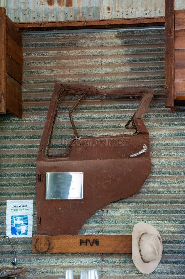 Уникальное оформление на станции/ранчо захолустья в западной Австралии стоковое изображение rf