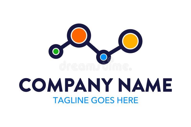 Уникально и первоначально шаблон логотипа компьютера и сети бесплатная иллюстрация